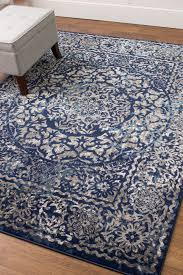 details about vintage distressed transitional rug blue gray carpet 3 3 x 4 7