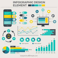table graphic design. collection of flat designs for infographics table graphic design