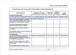 Skills Gap Analysis Word Template Free Download Assessment Training ...