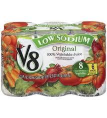 v8 100 vegetable juice low sodium