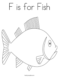 Small Picture F is for Fish Coloring Page Twisty Noodle