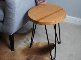 round oak side table order