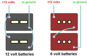 rv tech library converting from 12 volt to 6 volt batteries to 6 volt golf cart style batteries