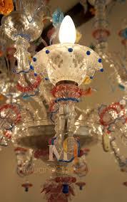 primavera hand blown glass chandelier 8 lights