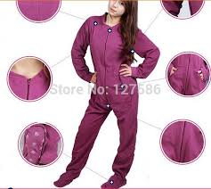 plus size footed pajamas 2018 wholesale fleece plus size women footed pajamas warm winter