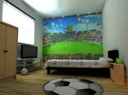 bedrooms for boys soccer. Modren Boys Boys Soccer Bedroom Ideas With Kids Wall Murals Picture Throughout Bedrooms For Y