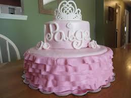 Birthday cakes of baby girl ~ Birthday cakes of baby girl ~ Princess tiara pink tutu baby girl birthday shower cake casey s