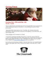 sensory santa at the crossroads mall event navigation