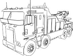 semi truck coloring pages 11981 with