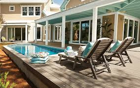pool decks above ground pool deck