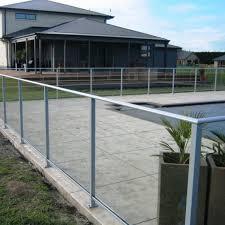 full frame glass pool fence per m installed