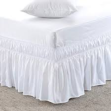 dust ruffles bed skirts. Wonderful Skirts MEILA Three Fabric Sides Wrap Around Elastic Solid Bed Skirt Easy OnEasy  Off To Dust Ruffles Skirts Amazoncom