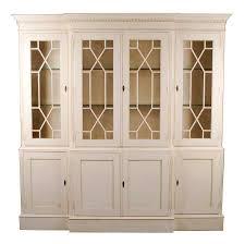 english antique style painted white bookcase 25543e 25543g