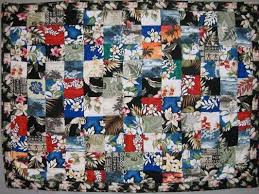 20 best Hawaiian shirt quilts images on Pinterest   Bed linen ... & Don't you love the Hawaiian shirts you find at the thrift store? Just one  will inspire a whole quilt! I just finished this one. Adamdwight.com