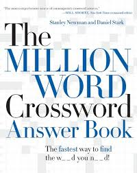 a book cover crossword clue the million word crossword answer book stanley newman daniel of a