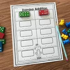 Free Printable Domino Addition - Simply Kinder