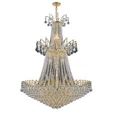 worldwide lighting empire collection 18 light polished gold crystal chandelier