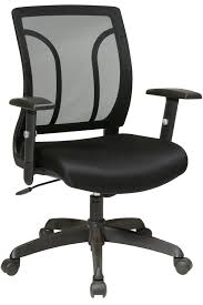 Office Chair With Adjustable Arms Em50727 3 Office Star Screen Back Task Chair With Adjustable