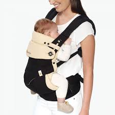 360 Baby Carrier with Infant Insert - Black/Camel | Ergobaby