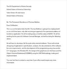 Sample Employment Verification Letter For Us Visa Letters Font