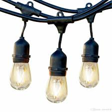 commercial patio lights. Outdoor Commercial String Lights 48 Feet Heavy Duty Weatherproof Vintage Patio 16 Gauge Black Cable With 15 Hanging Sockets15 Bulbs Christmas Light R
