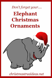 If you love elephants (and they're also supposed to be lucky) then it  stands to reason you'd love some elephant Christmas ornaments to hang on  your tree.