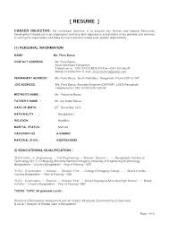Various Resume Formats Types Of Resume Format Sample Three Formats Resumes Different The