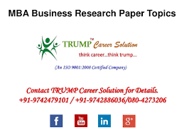 mba business research paper topics