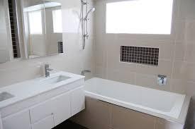 ... Simple Bathroom Remodel Small Bathroom Ideas Photo Gallery Cream Wall  White Bathtub Shower And ...