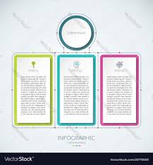 Abstract Infographic Chart With 3 Tabs
