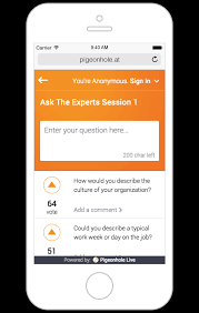 pigeonhole live the simplest interactive q a platform at events features