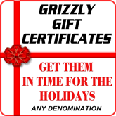 grizzly industrial logo. gift certicates for holidays grizzly industrial logo