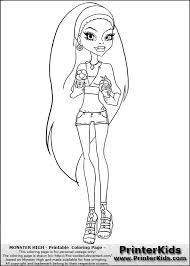 Small Picture Monster High Abbey Bominable Summer And Ice Cream Coloring