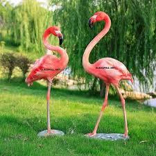 frp flamingo bird statue fiber