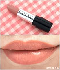 mary kay gel semi matte lipstick in bashful you