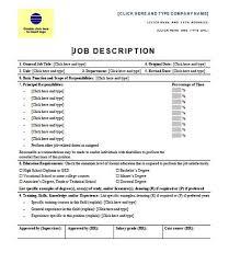 Microsoft Job Description Ukranagdiffusion Magnificent Job Description Template Word