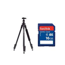 Chân Máy Benro A150EXU + Thẻ nhớ Sandisk 16Gb Class 4 – Máy Ảnh - Máy Quay  - FlyCam - Thiết bị Studio - Phụ Kiện
