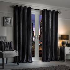 elegance charm charcoal luxury striped velvet curtains pair