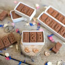 Personalised Chocolate Wedding Favours By Morse Toad Chocolate