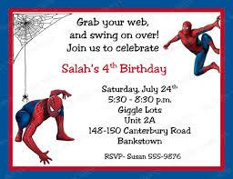 invitations cards free spiderman birthday invitations personalized free printable