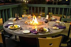idea patio dining table with fire pit and fire pit table design awesome patio dining table