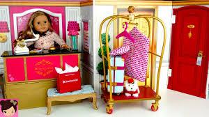 Toy Hotel Play Set - Doll Bedroom Bathroom | American Girl Grand ...
