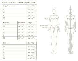 Maternity Size Chart Rosie Pope Maternityrosie Pope Maternity