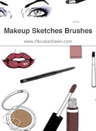 makeup face sketches brushes