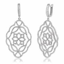 ingenious silver chandelier earrings with open flower