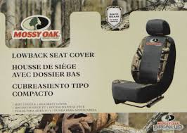 country camo low back seat cover