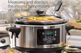 7 hamilton beach programmable set forget with temperature probe slow cooker
