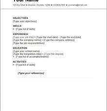 Spelndid Simple Resumes Examples Basic Job Resume Template Top 25