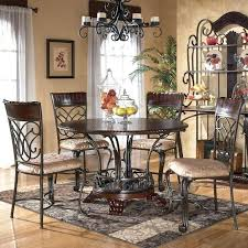 ashley glambrey 5 piece traditional dining set furniture round table side oak chairs