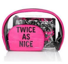 victoria s secret lace cosmetic make up bag trio